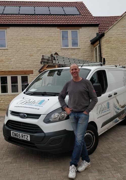 Bath Window Cleaners Tom Carter with Van